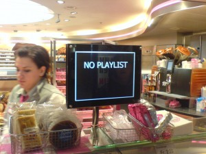 No playlist at the bakery